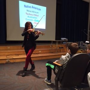 picture of science assembly musician