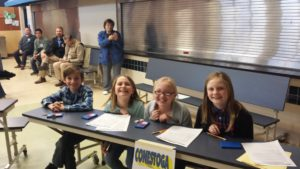 picture of 4th grade math bowl team