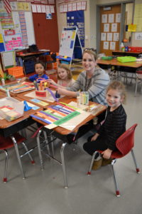 picture of students sharing 100 day project