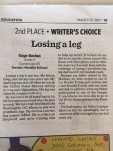 writer's choice newspaper article
