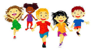 clipart picture of kids running