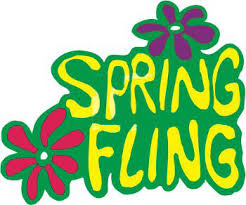 clipart of spring fling sign