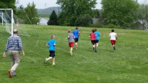 picture of recess run club students