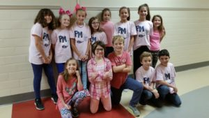 "Students in pink for ""PINK OUT"" day"