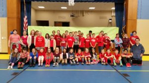 student's wearing red picture for Red Ribbon Week
