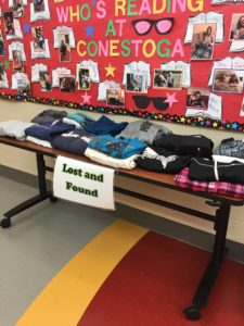 picture of lost and found items on a table