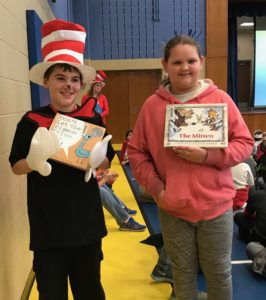 Picture of students dressed for Dr. Seuss day