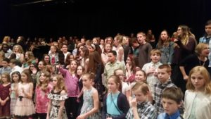 picture of students at chorus concert
