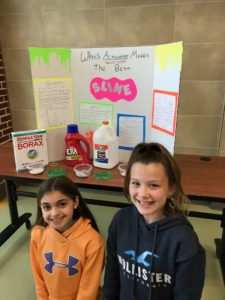 Kids with their Science Expo project
