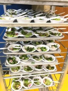 Picture of salads the students made