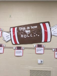 Picture of hanging tootsie roll posters