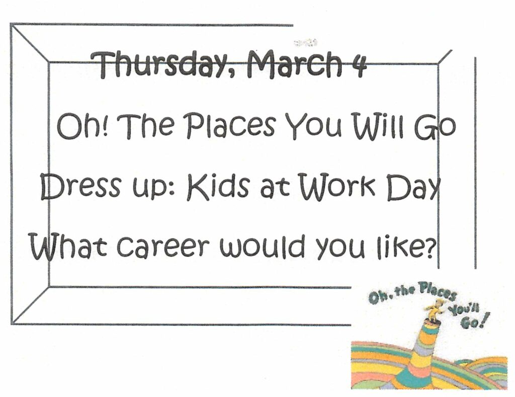 Thursday, March 4 Kids at Work Day